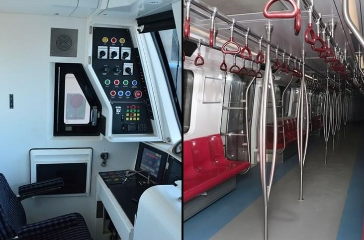 driverless delhi metro view